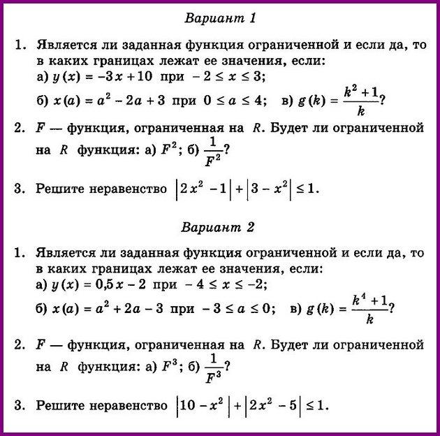 Ограниченность функции