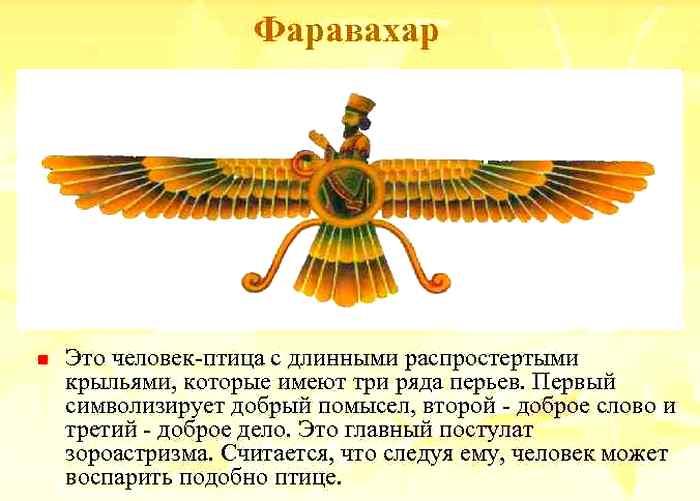 Древняя религия персов. Фаравахар